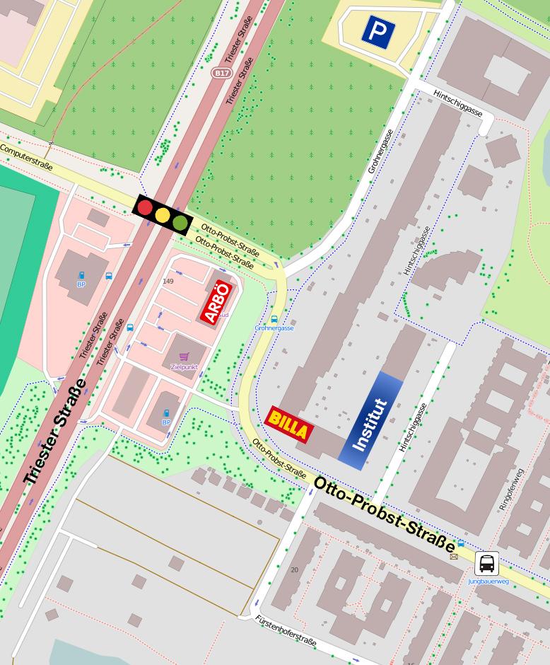 Anfahrtsplan Wien